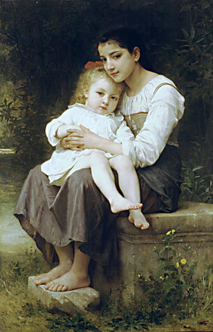 William Adolphe Bouguereau-Big Sister