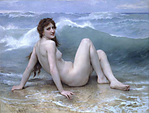 William Adolphe Bouguereau-The Wave