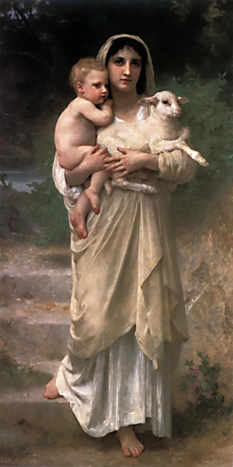 William Adolphe Bouguereau-Lambs 1897
