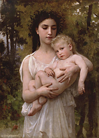 William Adolphe Bouguereau-Little Brother 1900