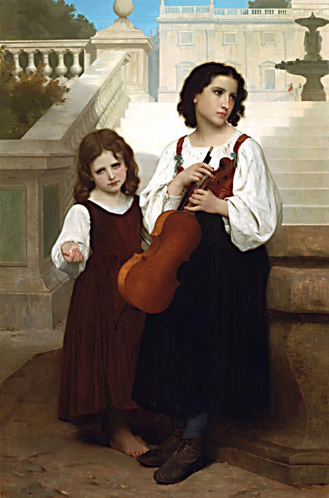 William Adolphe Bouguereau-Far From Home
