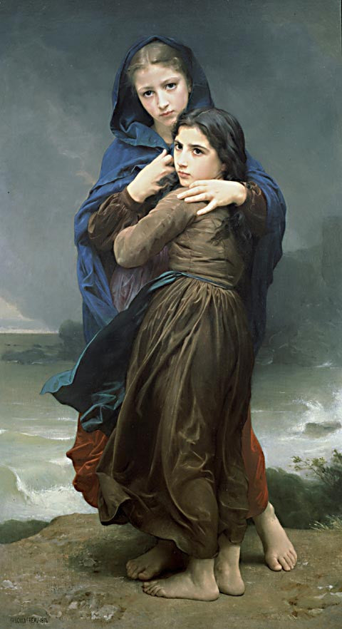 William Adolphe Bouguereau-The Storm