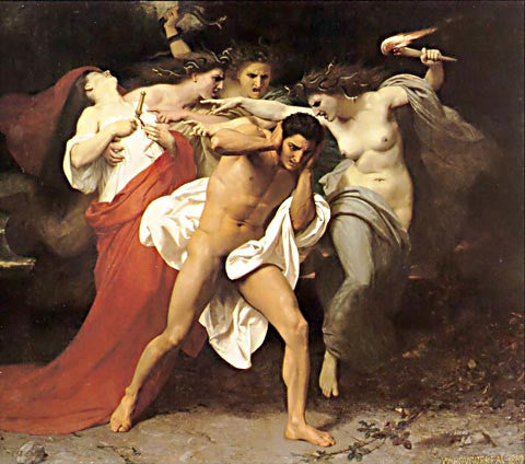William Adolphe Bouguereau-Pursued By The Furies