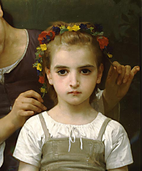 William Adolphe Bouguereau-Jewel Of The Fields (Detail)