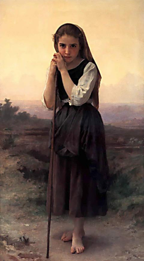 William Adolphe Bouguereau-Little Shepardess