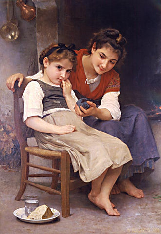 William Adolphe Bouguereau-Little Sister