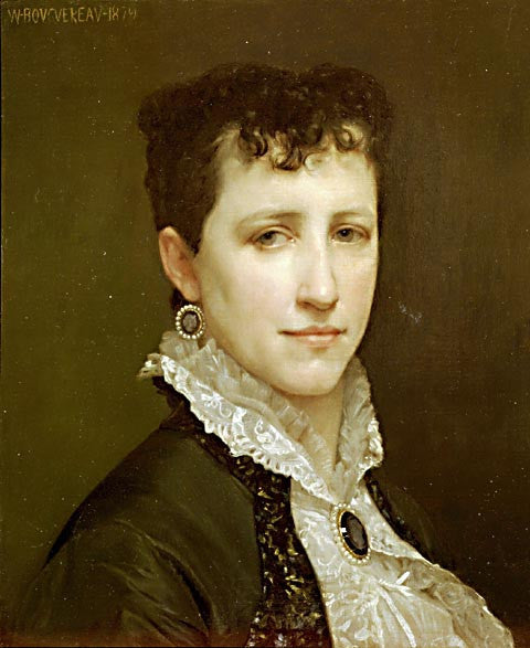 William Adolphe Bouguereau-Portrait Of Madame Elizabeth Gardner