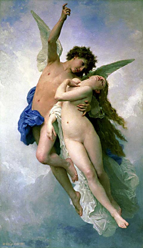 William Adolphe Bouguereau-Psyche And Cupid