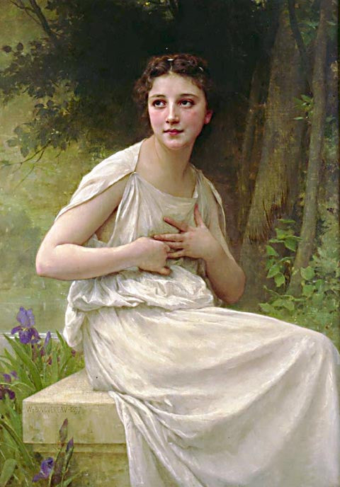 William Adolphe Bouguereau-Reflection