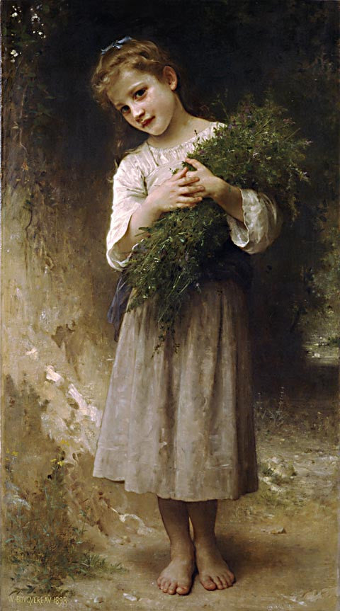 William Adolphe Bouguereau-Returned From The Fields
