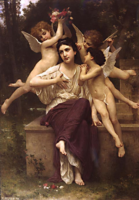 William Adolphe Bouguereau-A Dream Of Spring