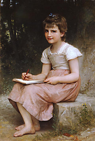 William Adolphe Bouguereau-A Calling 1896