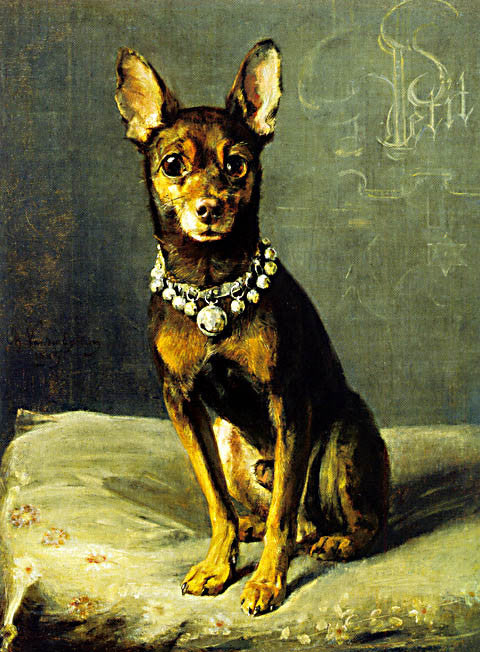 Van Den Eycken-A Dog On A Cushion