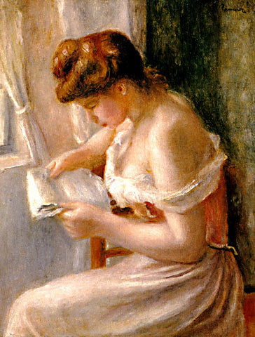 Pierre Auguste Renoir-A Girl Reading