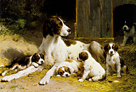 Eerelman-A Pointer And Her Puppies