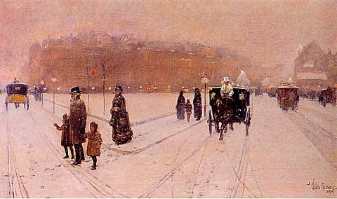 Childe Hassam-A City Fairyland