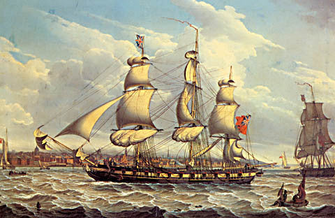 Robert Salmon-A Frigate Off Liverpool