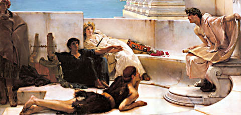 S. L. Alma-Tadema-A Reading From Homer 1885
