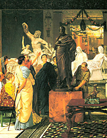 S. L. Alma-Tadema-A Sculpture Gallery In Rome