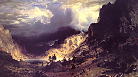 Albert Bierstadt-A Storm In The Rocky Mountains 1866