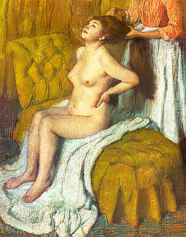 Edgar Degas-A Woman Having Her Hair Combed