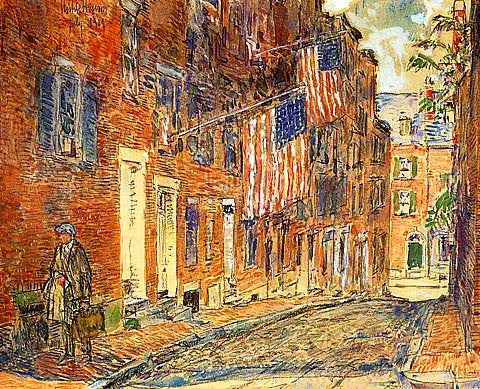 Childe Hassam-Acorn Street Boston