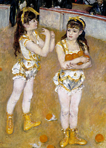 Pierre Auguste Renoir-Acrobats At The Cirque Fernando 1879