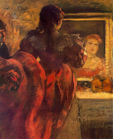 Edgar Degas-Actress In Her Dressing Room