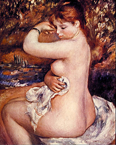 Pierre Auguste Renoir-After The Bath 1888