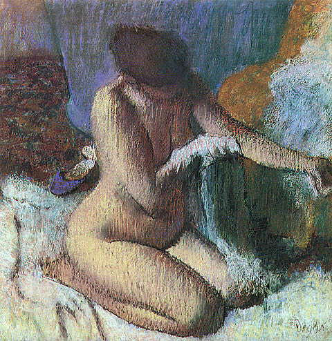 Edgar Degas-After The Bath 1895