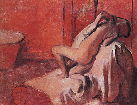 Edgar Degas-After The Bath 1896