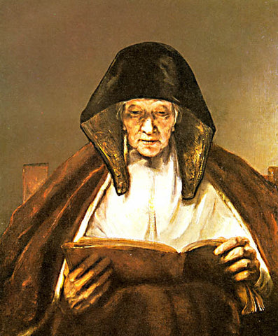 Rembrandt-An Old Woman Reading