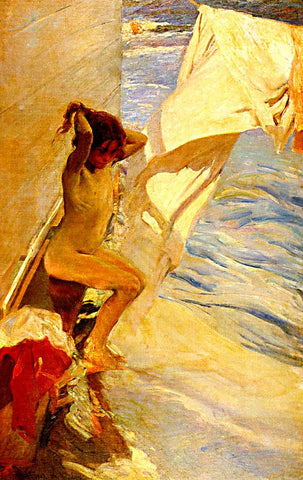 Joaquin Sorolla-Before The Beach Bath
