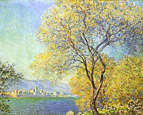 Claude Monet-Antibes Seen from La Salis