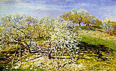 Claude Monet-Apple Trees in Bloom