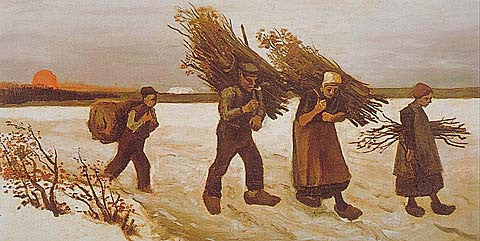 Vincent Van Gogh-Wood Gatherers In The Snow