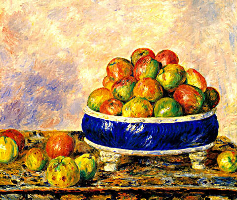 Pierre Auguste Renoir-Apples In A Dish