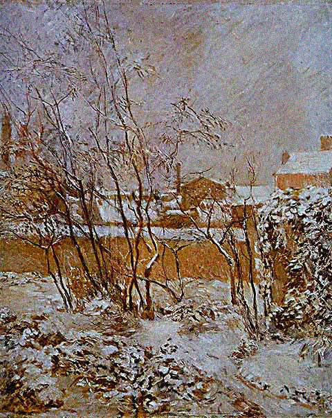 Claude Monet-Argenteuil in Snow 1874