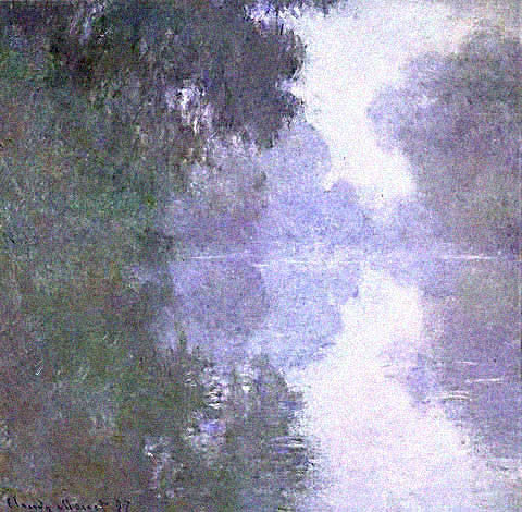 Claude Monet-Arm of the Seine in the Fog Monet