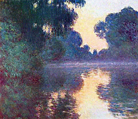 Claude Monet-Arm of the Seine at Sunrise