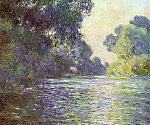 Claude Monet-Arm of the Seine Near Giverny