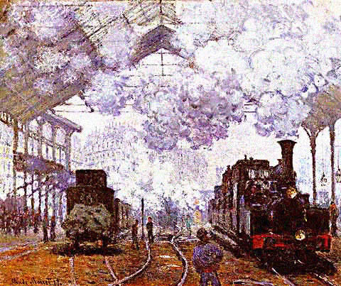 Claude Monet-Gare Saint Lazare the Arrival of a Train