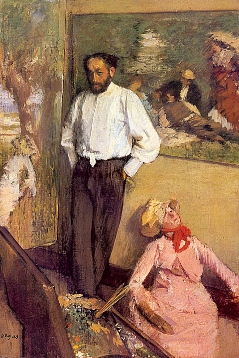 Edgar Degas-Artist In His Studio