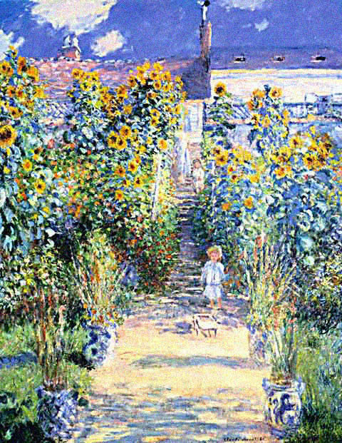 Claude Monet-Artists Garden at Vetheuil