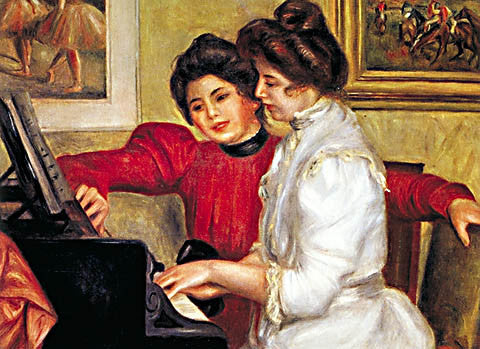 Pierre Auguste Renoir-At The Piano 1897