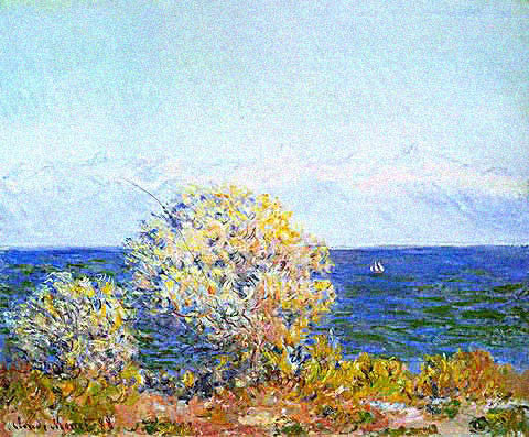 Claude Monet-At Cap D Antibes Mistral Wind