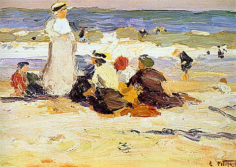 Edward Potthast-At The Beach