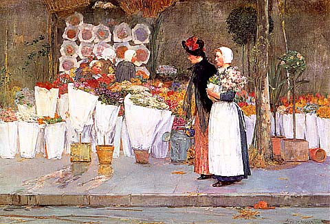 Childe Hassam-At The Florist