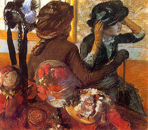 Edgar Degas-At The Milliners