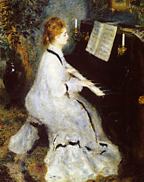 Pierre Auguste Renoir-At The Piano 1875
